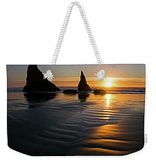 Weekender Tote Bag featuring the photograph Sea Stacks by Inge Riis McDonald