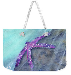 Weekender Tote Bag featuring the painting Sea Star Rays by Betsy Hackett