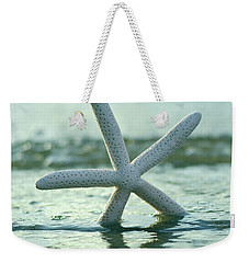 Weekender Tote Bag featuring the photograph Sea Star Vert by Laura Fasulo