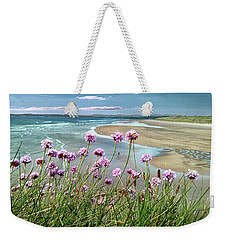 Sea Thrift Wild Flowers - On The Cliff Edge Above Tullan Strand Weekender Tote Bag