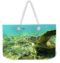 Weekender Tote Bag featuring the photograph Sea Turtle #2 by Anthony Jones
