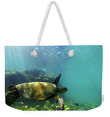 Weekender Tote Bag featuring the photograph Sea Turtle #5 by Anthony Jones