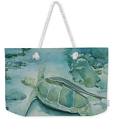 Sea Turtle And Friend Weekender Tote Bag