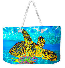 Sea Turtle And Parrotfish Weekender Tote Bag