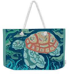 Sea Turtle At Twilight  Weekender Tote Bag