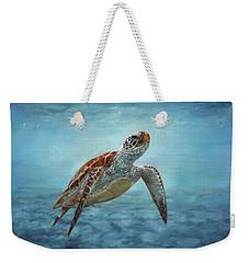 Sea Turtle Weekender Tote Bag by David Stribbling