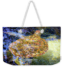 Weekender Tote Bag featuring the photograph Sea Turtle In Hawaii by D Davila