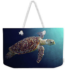 Sea Turtle Weekender Tote Bag by Kathie Miller