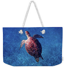 Weekender Tote Bag featuring the photograph Sea Turtle by Lars Lentz