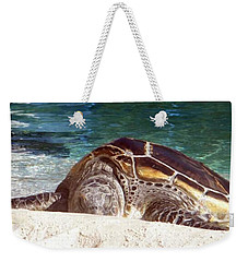 Sea Turtle Resting Weekender Tote Bag