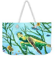 Sea Turtle Series #3 Weekender Tote Bag