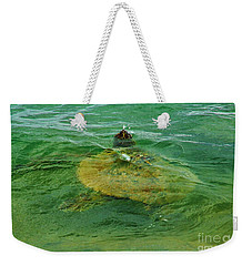 Sea Turtle Up For Air Weekender Tote Bag by Craig Wood