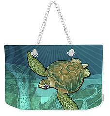 Sea Turtles Near Beaufort, Sc Weekender Tote Bag