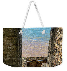 Weekender Tote Bag featuring the photograph Sea View Arch by Scott Carruthers