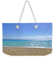 Weekender Tote Bag featuring the photograph Sea View M2 by Francesca Mackenney