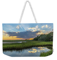 Seabrook Island Sunrays Weekender Tote Bag
