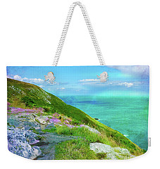 Seacoast At Howth Weekender Tote Bag by Judi Bagwell