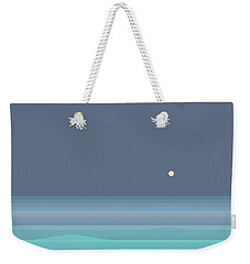 Seafoam Moonrise Weekender Tote Bag