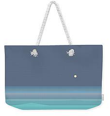 Seafoam Moonrise Weekender Tote Bag