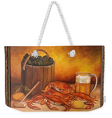Seafood Night Weekender Tote Bag by Susan Dehlinger