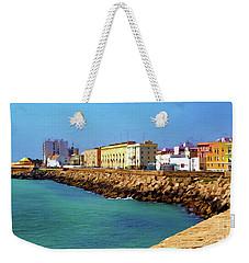 Seafront Promenade In Cadiz Weekender Tote Bag