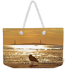 Seagull Admiring Thacher Island Gloucester Ma Good Harbor Beach Weekender Tote Bag