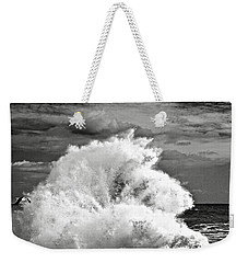 Seagull And A Wave Bw Weekender Tote Bag by Michael Cinnamond