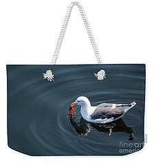Seagull Feasting On Crab Weekender Tote Bag