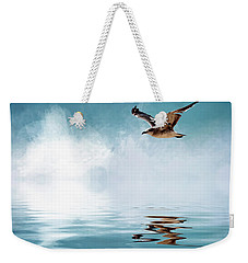 Seagull In Flight Weekender Tote Bag by Cyndy Doty