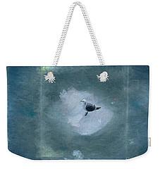 Seagull On Iceflow Weekender Tote Bag by Victoria Harrington