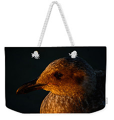Weekender Tote Bag featuring the photograph Seagull Sunrise by Tikvah's Hope