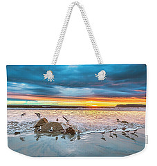 Seagull Sunset Weekender Tote Bag