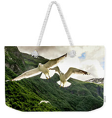 Seagulls Over The Fjord Weekender Tote Bag