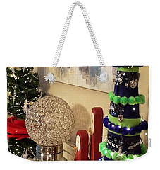 Weekender Tote Bag featuring the photograph Seahawk Christmas by Judyann Matthews