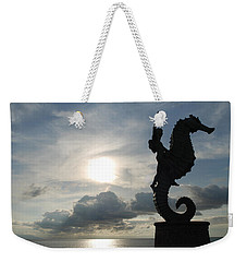 Seahorse Silhouette Weekender Tote Bag