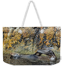 Seal On His Back Weekender Tote Bag by Patricia Hofmeester