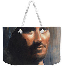 Weekender Tote Bag featuring the painting Sean by Diane Daigle