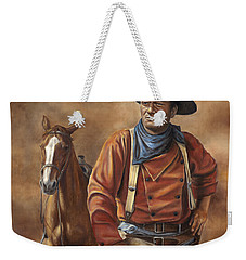 Weekender Tote Bag featuring the painting Searching by Kim Lockman