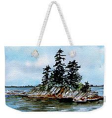 Seascape Casco Bay Maine Weekender Tote Bag