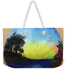 Seascape On A Sand Dollar Weekender Tote Bag by Mary Ellen Frazee