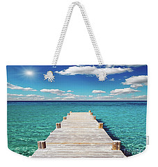 Seascape Sunrise Treasure Coast Florida Pier C6 Weekender Tote Bag