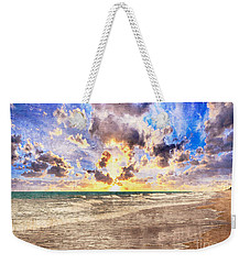 Seascape Sunset Impressionist Digital Painting B7 Weekender Tote Bag