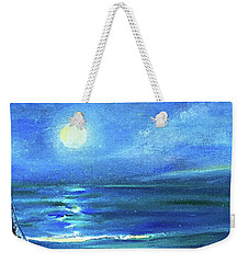 Seascape With A Moon Weekender Tote Bag