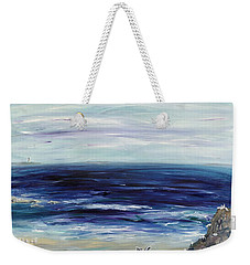 Seascape With White Cats Weekender Tote Bag by Regina Valluzzi