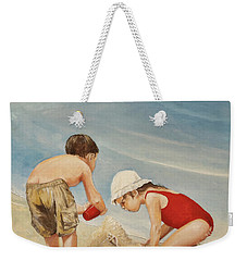 Seashell Sand And A Solo Cup Weekender Tote Bag