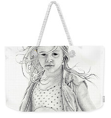 Weekender Tote Bag featuring the drawing Seashells by Mayhem Mediums