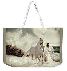 Weekender Tote Bag featuring the digital art Seashore Frolic by Melinda Hughes-Berland