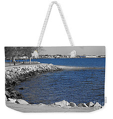 Seaside Blue Weekender Tote Bag