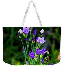 Seaside Gentian Wildflower  Weekender Tote Bag