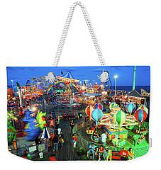 Seaside Heights Casino Pier Weekender Tote Bag by James Kirkikis